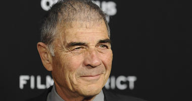 "In this file photo, Robert Forster arrives at the LA premiere of ""Olympus Has Fallen"" at the ArcLight Theatre in Los Angeles."