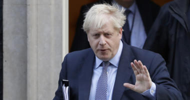 British Prime Minister Boris Johnson leaves 10 Downing Street, to go to the Houses of Parliament in London, Saturday, Oct. 19, 2019.