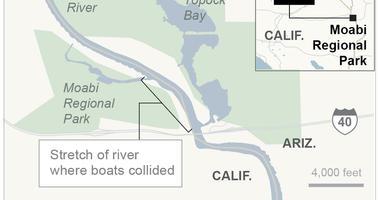 Colorado River boat collision