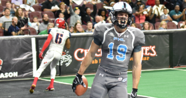 Wide receiver Aaron Wascha has caught 21 touchdown passes this season for the Philadelphia Soul.