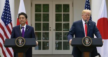 President Donald Trump and Japanese Prime Minister Shinzo Abe
