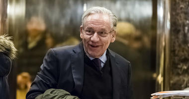 Journalist Bob Woodward is seen in the lobby of Trump Tower in New York, NY, USA on January 3, 2017.
