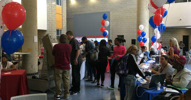 As a way to energize a new generation of voters, the Community College of Philadelphia held an event Monday as part of Constitution Day in hopes of registering new voters.