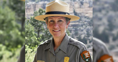 This May 19, 2018 file photo released by the National Park Service shows Grand Canyon National Park Superintendent, Christine Lehnertz at Grand Canyon National Park, Ariz.