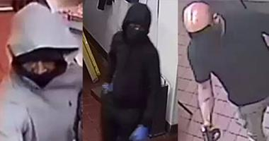 Three unknown males are suspected of robbing two Popeyes and a Chipotle.