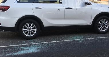 An SUV in Kensington was hit by a bullet in a police-involved shooting.
