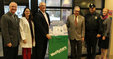Doylestown Health recently added a medication disposal box in the Doylestown Hospital Emergency Department lobby.