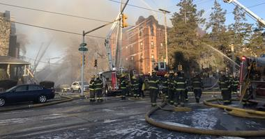 A five-alarm fire broke out early Monday morning at Overbrook Gardens apartment complex, located at 63rd and Jefferson streets.