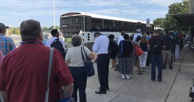 The shuttle in Lindenwold, N.J., did not have enough seats for all the people waiting.