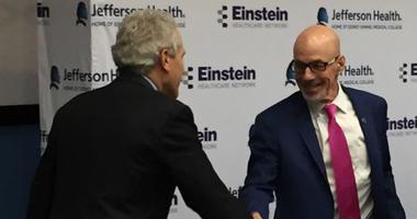 Jefferson CEO Dr. Steve Klasko and Einstein CEO Barry Freedman