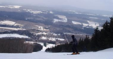 Skiing on Elk Mountain