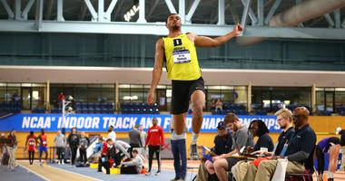 Delaware Valley University senior Ta'riq Thomas will take part in the the long jump and triple jump this week at the NCAA Division III Outdoor Championships.