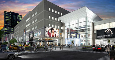 """Adding to the reimagined Fashion District along Market Street East is """"Round One,"""" an arcade and entertainment company."""