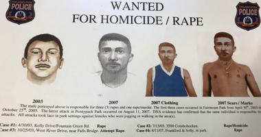 "series of artist renderings of the ""Fairmount Park Rapist"""