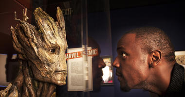 """A bust of the character Groot, created for Marvel Studios' """"Guardians of the Galaxy."""" It will be on display at The Franklin Institute April 13."""