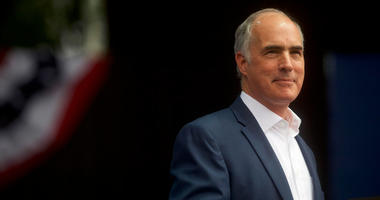 PHILADELPHIA, PA - SEPTEMBER 21: Senator Bob Casey (D- PA) addresses supporters before former President Barack Obama speaks during a campaign rally for statewide Democratic candidates on September 21, 2018 in Philadelphia, Pennsylvania.