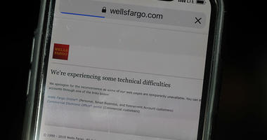 Wells Fargo said some customers experienced outages that impacted its ATMs and mobile and online banking apps