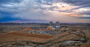 Power Plant in the South of Iran taken in January 2019