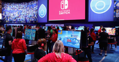 Game enthusiasts and industry visit the Nintendo exhibit during the E3 Video Game Convention at the Los Angeles Convention Center on June 11, 2019 in Los Angeles, California.