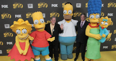 "Matt Groening (left) creator/executive producer, and executive producer Al Jean attend ""The Simpsons"" 500th Episode Celebration at the Hollywood Roosevelt Hotel, Feb. 13, 2012."