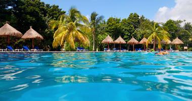 tropical pool in the Riviera Maya