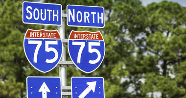Road signs on I-75