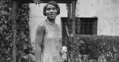 America contralto Marian Anderson (1897 - 1993) at home. Anderson was the first African-American singer to perform at the Metropolitan Opera House in New York.