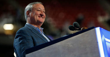 PHILADELPHIA, PA - JULY 24: Philadelphia Mayor Jim Kenney participates in a walk-through at the Wells Fargo Center July 24, 2016 in Philadelphia, Pennsylvania. The Democratic National Convention opens July 25.
