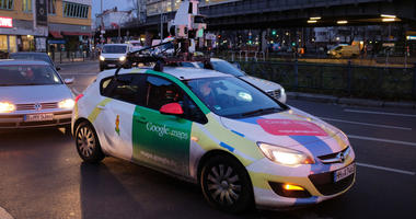 A Google Maps Street View car