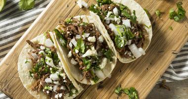 Spicy beef barbacoa tacos