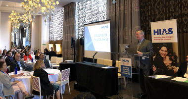 Mayor Jim Kenney welcomes the national conference for refugee advocacy group HIAS to Philadelphia.