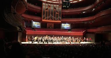 Area Elementary School students get a classical music lesson from the Philadelphia Orchestra.