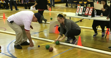 Unified sports, in which high school students with and without special needs partner up, is a growing movement, and George Washington High School hosted a high stakes bocce tournament on Thursday.