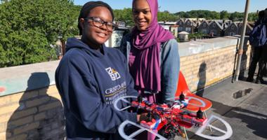 Students at Cristo Rey High School in North Philadelphia spent the past few months building their own drones and Friday, they got to test them out on the roof.