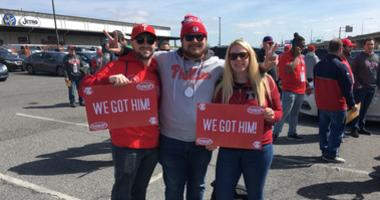 About 500 people signed up for a round-trip excursion to the Phillies-Nationals game on April 2, 2019, which included a game ticket, snacks, adult beverages and a pregame barbecue.