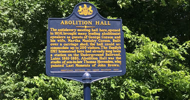 Abolition Hall hosted prominent speakers such as Frederick Douglass and Lucretia Mott.