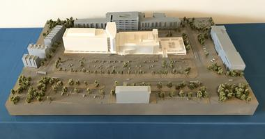 CHOP is adding a 250,000-square-foot inpatient hospital to its existing King of Prussia campus, illustrated in the diagram.