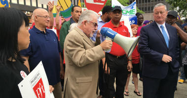 Philadelphia labor leaders launched an instant protest to Wednesday's U.S. Supreme Court decision in the Janus case.