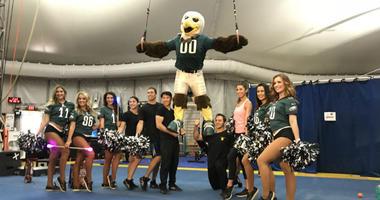 """Eagles Cheerleaders / Cirque de Soleil's """"Volta"""""""