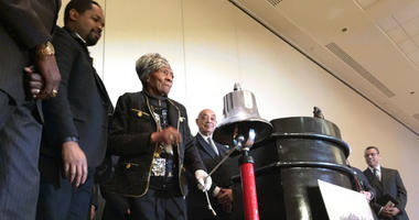 At the 37th annual opening of MLK Day, Laura Wooten did the honors of ringing in the holiday.