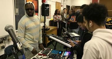 The one and only Wyclef Jean took the stage at South Philadelphia High School showcasing his talent and that of his proteges Jeremy Torres and Jazzy Amra.