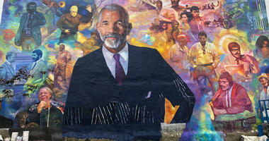 Mural Arts Philadelphia unveiled a new mural of the longtime CBS News broadcaster in the neighborhood where the legend grew up.
