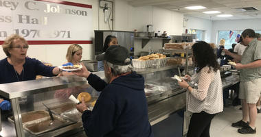 Hamburgers, hot dogs and all the fixings were part of the spread at the Jefferson Health veterans appreciation barbecue Monday.