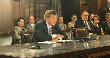 Former Gov. Tom Ridge was the heavy hitter called in by backers of a bill to prop up the state's struggling nuclear power industry as the state House held the first hearing on the proposal.