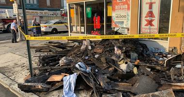 Fire raced through this building at 52nd and Girard in the Parkside neighborhood of West Philadelphia early Monday morning.