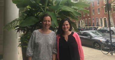 Nicole Juday Rhoads and Julianne Schrader Ortega