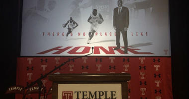 Aaron McKie was introduced as Temple's new head coach on Tuesday after working as an assistant coach last season.