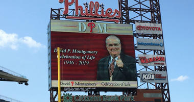 Phillies employees, fans and current and former players gathered at Citizens Bank Park Thursday afternoon to remember team chairman David Montgomery, who died last month at the age of 72.