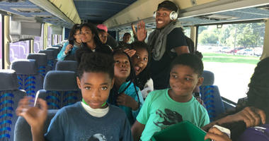 Camp Philly campers return from a week in the Poconos.