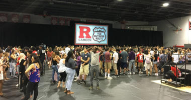 Incoming freshmen at Rutgers University-Camden got to know each other better Thursday morning on campus during the annual Raptor Welcome.